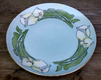 Weimar Germany Plate, Art Nouveau Plate, Artist Signed