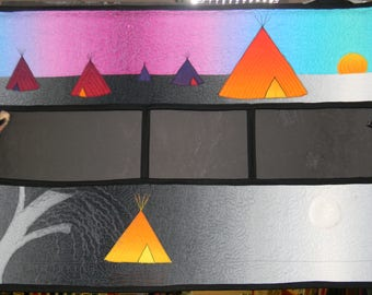 Teepees at Twilight Wall Hanging Kit by Coyote Creek Fabrics