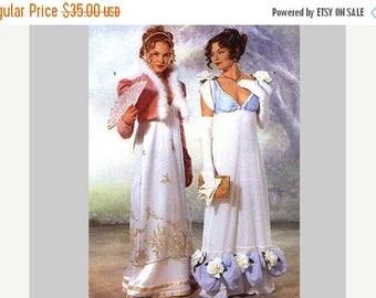 on SALE 25% OFF Historical Regency Dress Pattern Butterick size 6 8 10 UNCUT Jane Austen Dress and Jacket Titanic Style Regency Era Empire D