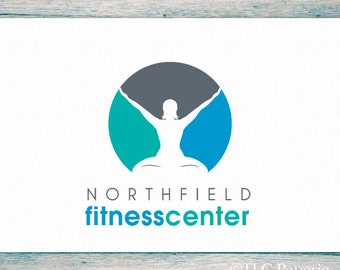Fitness Logo, Yoga Logo, Pilates Logo Design, Custom Logo, Business Logo, Gym Logo,  Premade Logo