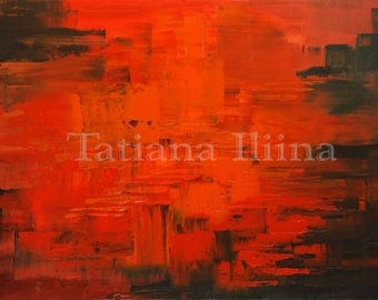 Exquisite giclee print on CANVAS of original abstract painting DIABOLIC DIRECTION by Tatiana Iliina
