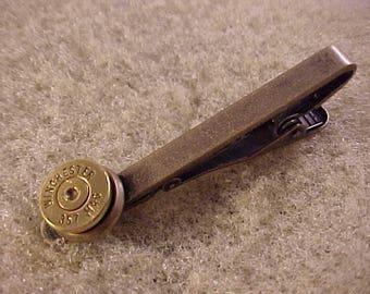 Winchester 357 Magnum Bullet Tie Clip Recycled Repurposed