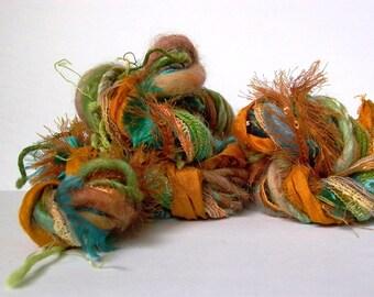chameleon dream weaver effects™ 30 yards art yarn fiber bundle yarn pack mixed media fibers textile craft kit luxury ribbons wools sari silk