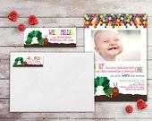 Hungry Caterpillar Return Address Label: Birthday Return Address Label - Sticker - Rectangular Label - 1st Birthday Address Label - BD101