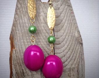 Gorgeous fushia earrings