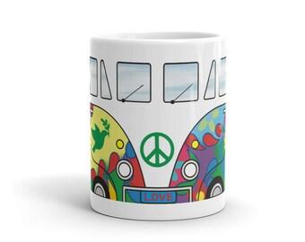 Hippie Van VW Bus Mug - Ceramic Cup - Volkswagen