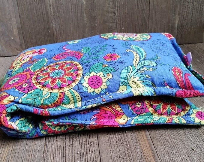 Featured listing image: Aromatherapy Neck Pillow Flax Seed Organic Dried Lavender Herbal Scented Therapy Microwave Heating Pad Wrap Blue Bird Mandala Free Shipping