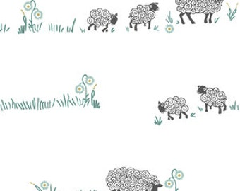 sheep baby bedding- neutral crib  bedding- sheep crib sheet- fitted crib sheet / mini crib sheet- sheep crib bedding