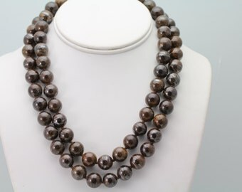 Bronzite Necklace. Listing 507510263