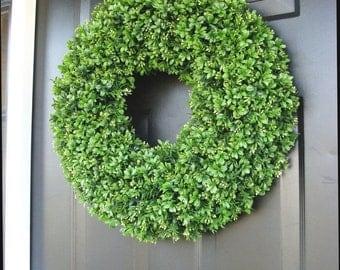 CHRISTMAS WREATH SALE Outdoor Decor, Door Wreaths, Four Seasons, Outdoor Wreath Greenery, Spring Decor, Artificial Boxwood, Wreath Door Hang
