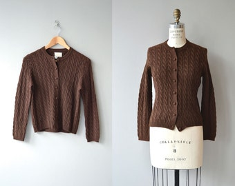 Cable Twist cardigan | vintage 1950s cardigan | wool 50s sweater