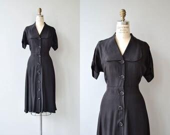 Back Catalog dress | vintage 1950s dress | black 50s dress