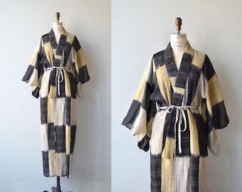 Asa hemp kimono | vintage hemp kimono | antique japanese kimono