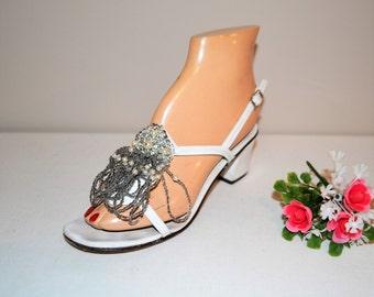 Vintage Shoe Amalfi Beads & Pearls 1960's