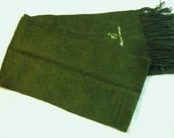 Alpaca Camargo Dark Green Scarf