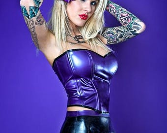 RESERVED Custom Scarlet Witch Latex Leotard, Payment #2