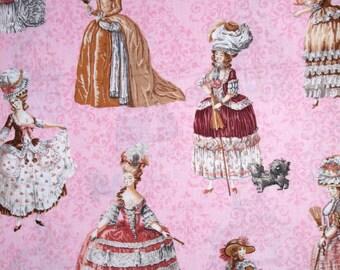 French Fabric - Paris Panache Vintage Dress Pink - Robert Kaufman YARD