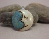 Crescent Moon...Stoneware Pendant...White