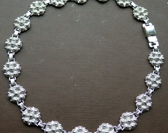 Vintage Sterling Necklace - G&D Co - Solid Sterling - 1940s
