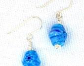 Aqua Milfiore Glass Earri...