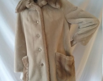 Vintage Borgana Faux Fur Coat