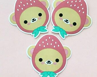 Strawbeary Vinyl Sticker