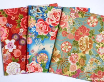 Japanese Fabric - Kimono 3 Fat Quarter Bundle Set - F297