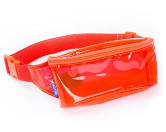 Red Vinyl Fanny Pack