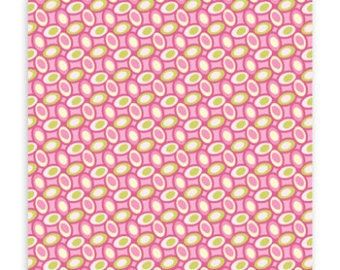 SALE FABRIC - Freshcut Jellybean Fabric by Heather Bailey - 100% Cotton Fabric - 1 yard - Pink and Green Fabric
