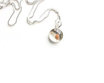 mustard seed charm. sterling silver mustard seed necklace. sterling mustard seed faith gift. bible verse jewelry. gifts for her.