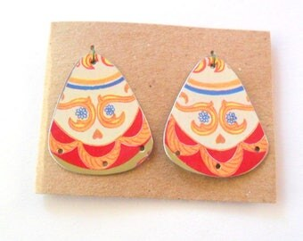Reclaimed Upcycled Cookie Tin Earring Findings Pair