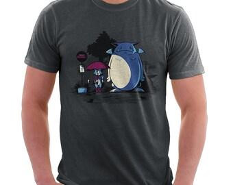 Gold Saucer Bus Stop Final Fantasy Shirt  - Spirited Away Shirt | T-shirt for Women Men | Video Game T-shirt | Cait Sith | Miyazaki | FFVII