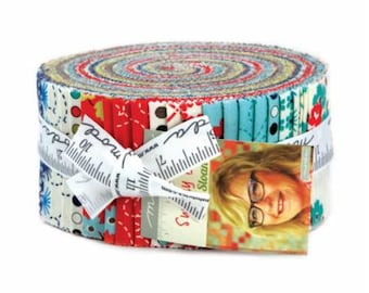 SUMMER SALE - Sunday Drive - Jelly Roll - 43070JR - by Pat Sloan for Moda Fabric