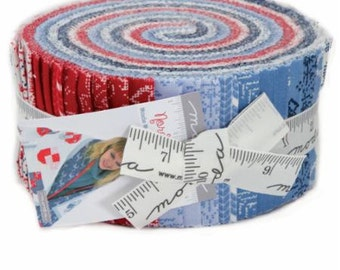 SPRING SALE - Nordic Stitches Christmas - Jelly Roll - Wenche Wolff Hatling - Moda Fabric