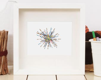 Urchin- limited edition print from original // Home Decor // 13x19 or 8.5x11