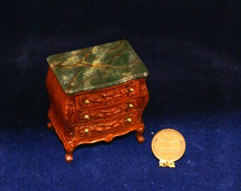 1:12 Scale faux-finished nightstand or dresser
