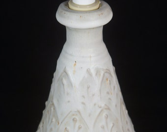 White Lotion Bottle,  Elegant Lotion Bottle, White Soap Dispenser,  Handmade Lotion Pump, Handmade Pottery