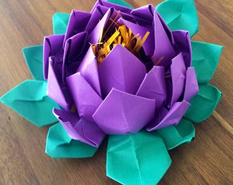 Lotus Handmade Paper Flower {Purple}