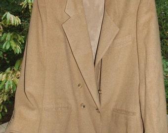 Women's EVAN PICONE Camel Hair Blazer- Size 16- Made in USA 0918