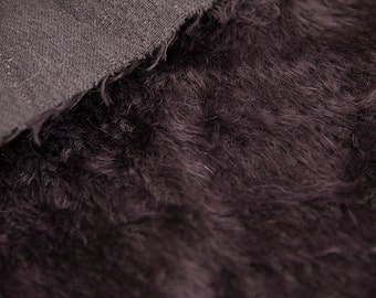 Mohair fabric for teddy bears, Intercal 500 D  color 124, Black, with Stright Fibers