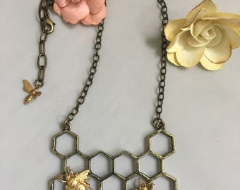 Too bee or not too bee necklace