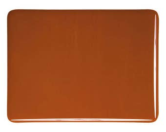 Burnt Orange Glass 90 COE Bullseye Sheet Large Pieces