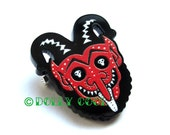 Krampus Mini Pin by Dolly Cool Christmas Holidays Devil Demon Unisex