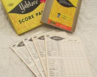 Vintage Yahtzee  Score Pads 1956 SALE