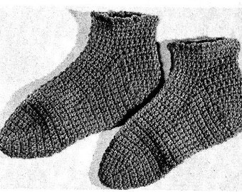 Slipper Socks Crochet Pattern 723174