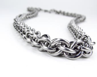 Jens Pind - Chainmaille Necklace - Stainless Steel - Thick