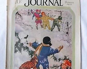 1927 People's Home Journal Magazine Fashion Crochet Recipes Ads +