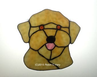 Yorkie Poo Stained Glass Suncatcher