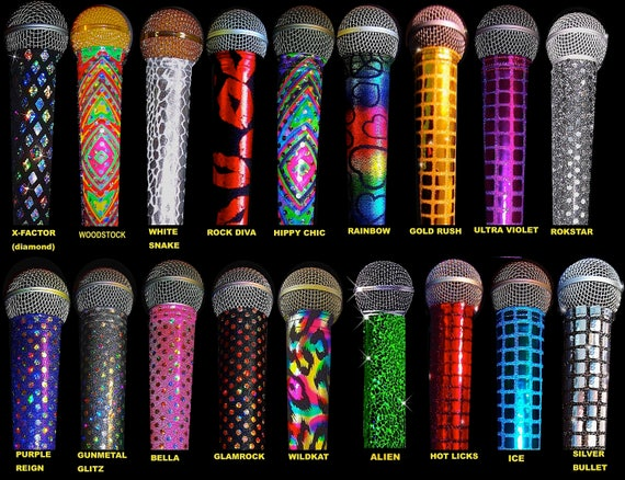 Karaoke Microphone COVERS for CORDED/WIRED microphones