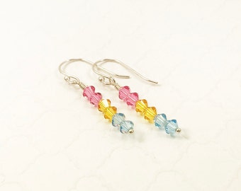 Pansexual Pride Flag Earrings - Pan Girl Jewelry - Coming Out Gift - Love is Love - LGBT Jewelry - Pansexual Pride Flag - Pansexual Earrings